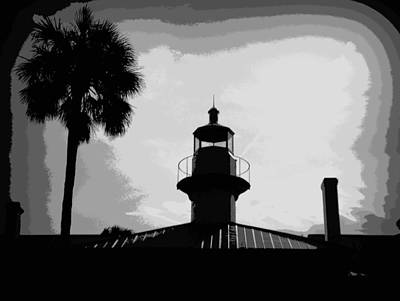 Photograph - Lightstation Seahorse Key Silhouette 1 by Sheri McLeroy