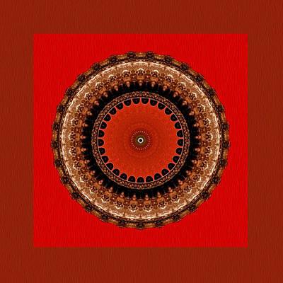Digital Art - Lightwaves Mandala by Kandy Hurley