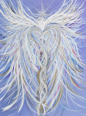 Wall Art - Painting - Lightworker Angel by Angel Fritz
