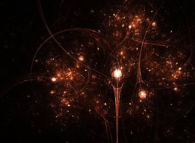Supernova Digital Art - Lightyears Away by Steve K