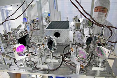 Checking Photograph - Ligo Gravitational Wave Detector Optics by Caltech/mit/ligo Lab
