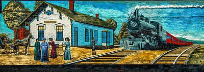 Photograph - Ligonier Depot Mural by Gene Sherrill