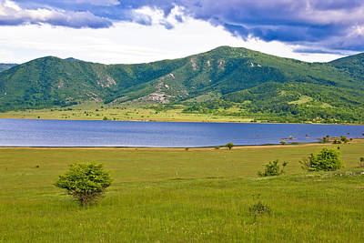 Photograph - Lika Region Mountain And Lake Landscape by Brch Photography
