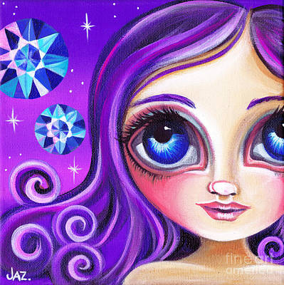 Pop Surrealism Painting - Like A Diamond In The Sky by Jaz Higgins
