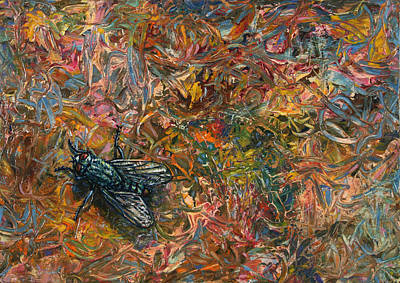 Funny Painting - Like A Fly On Paint by James W Johnson
