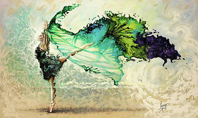 Greens Painting - Like Air I Will Raise by Karina Llergo