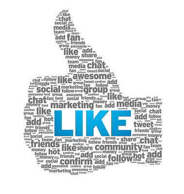 Like - Thumb Up Art Print by Aged Pixel