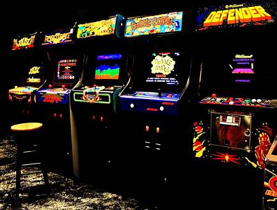Photograph - Like Totally Awesome Arcade by Benjamin Yeager