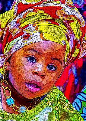 Digital Art - Lil African Princess by Karen Buford