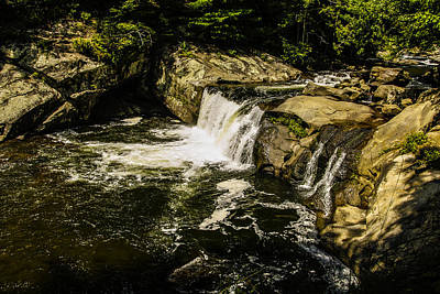 Lil Bald River Falls Art Print by Marilyn Carlyle Greiner