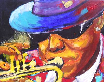 Old School House Mixed Media - Lil Bennie On Trumpet by Jonathan Tyson