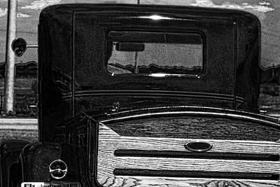 Photograph - Lil Black Antique Pick Up Truck by Lesa Fine
