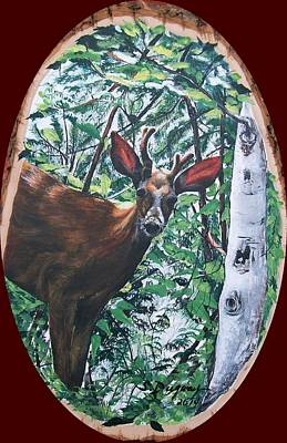 Painting - Li'l Buck  by Sharon Duguay