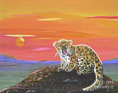 Painting - Lil' Leopard by Phyllis Kaltenbach
