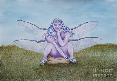 Photograph - Lila The Dragonfly Faery by Jeanette Hibbert