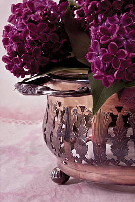 Lilacs Photograph - Lilac And Silver by Sandra Foster