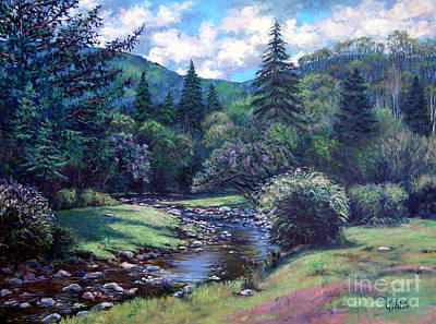 Lilac Brook Art Print by Gerard Natale