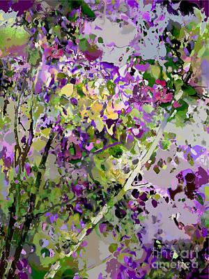 Digital Art - Lilac Bush by Ursula Freer