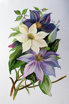Painting - Lilac Clematis by Taiche Acrylic Art