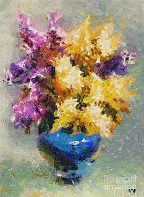 Food And Beverage Painting - Lilac  by Dragica  Micki Fortuna