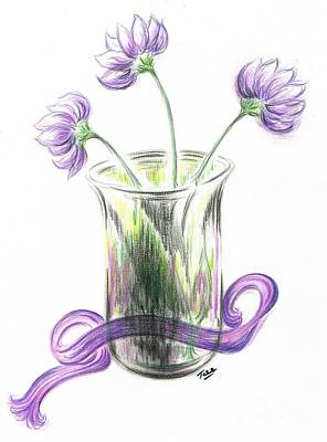 Lilac Drawing - Lilac Flowers  by Teresa White