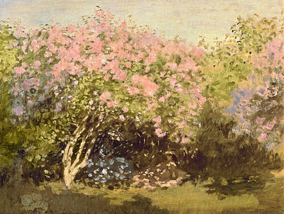 Lilac In The Sun, 1873 Art Print by Claude Monet