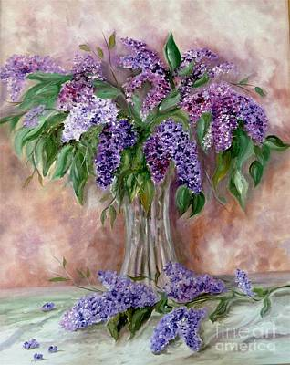 Painting - Lilac by Irene Pomirchy