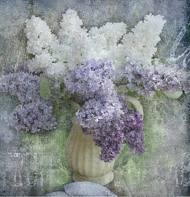 Abstract Digital Photograph - Lilac by Jeff Burgess