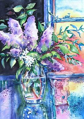 Art Print featuring the painting Lilac Light by Trudi Doyle