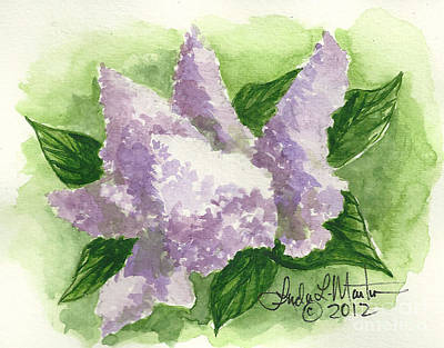 Painting - Lilac by Linda L Martin
