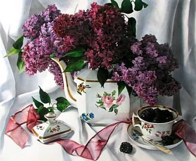 Lilac Spring Original by Kimberly Meuse
