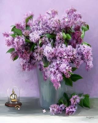 Lilac Spring Art Print by Yvonne Della-Moretta