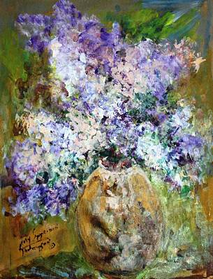 Painting - Lilac Time by Mary Spyridon Thompson