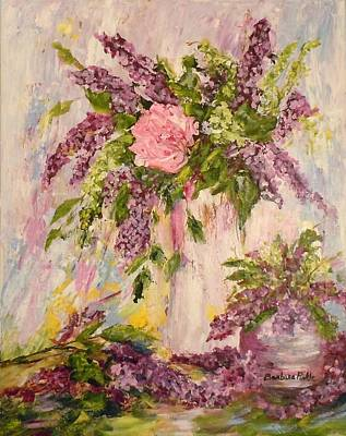 Painting - Lilacs And Peony by Barbara Pirkle