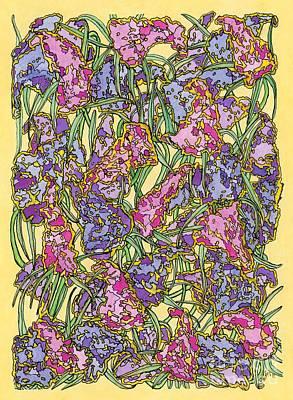 Lilacs Electric Art Print by Mag Pringle Gire
