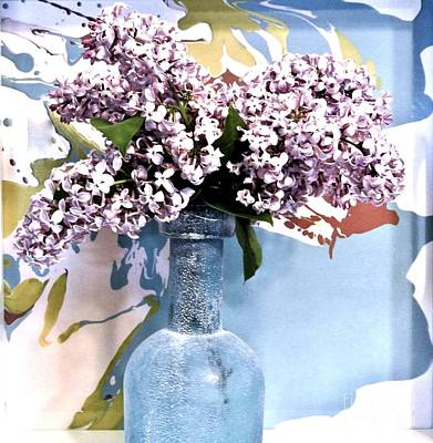 Sandblasted Photograph - Lilacs Gorgeous by Marsha Heiken