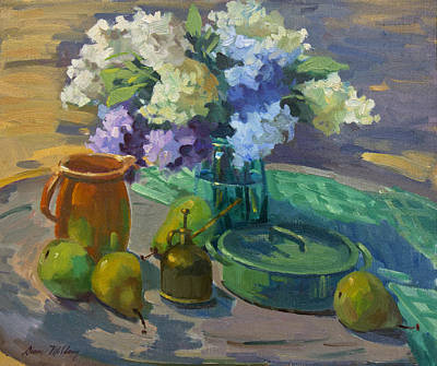Painting - Lilacs Harmony In Green by Diane McClary
