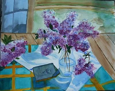 Lilacs In Spring Original by Rita Howard