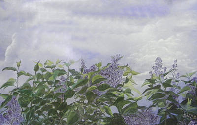 Painting - Lilacs by Nila Jane Autry