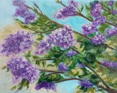 Painting - Lilacs by Natascha De la Court