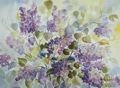 Wall Art - Painting - Lilacs by Paula Marsh