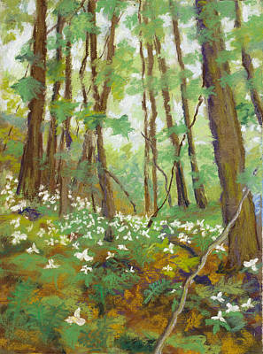 Wall Art - Painting - Lilies - Ascension Day by Jennifer Richard-Morrow