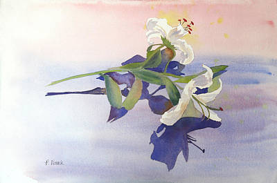 Lilies At Rest Art Print by Patricia Novack