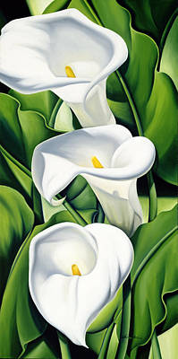 Floral Still Life Painting - Lilies by Catherine Abel
