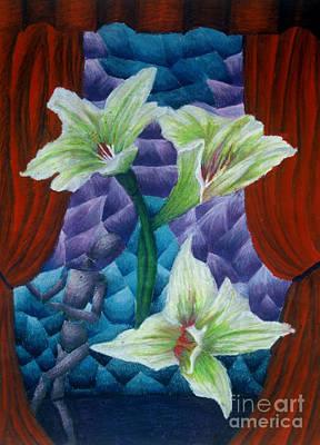 Lilies Art Print by Coriander  Shea