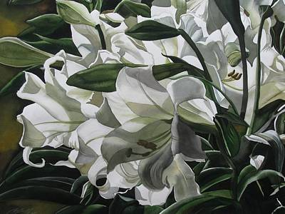 lilies for Easter Print by Alfred Ng