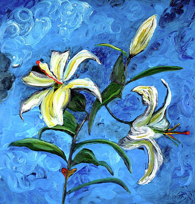 Lilies Art Print by Gregory Allen Page