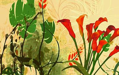 Lilies In The Park Art Print by Madeline  Allen - SmudgeArt