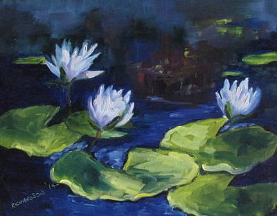 Susan L Richardson Art Painting - Lilies In The Spotlight by Susan Richardson