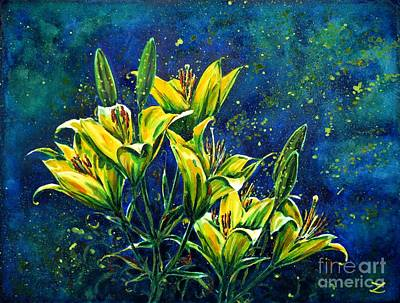Most Popular Painting - Lilies by Zaira Dzhaubaeva